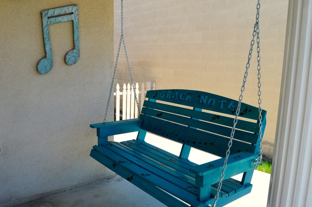 Our Custom Porch Swing Made by some of our amazing sudents!
