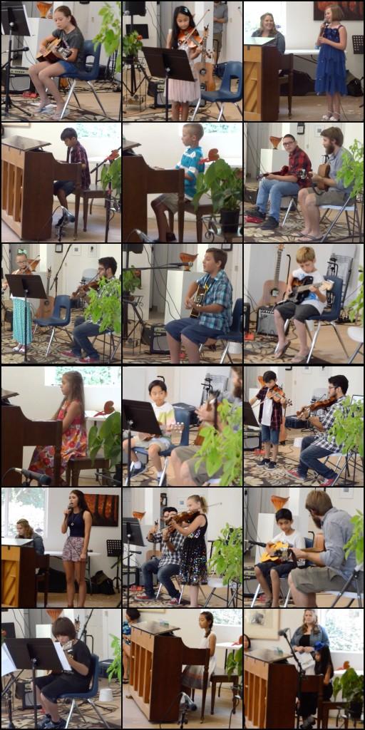 Students at Grace Note Music Studio's Summer Recital